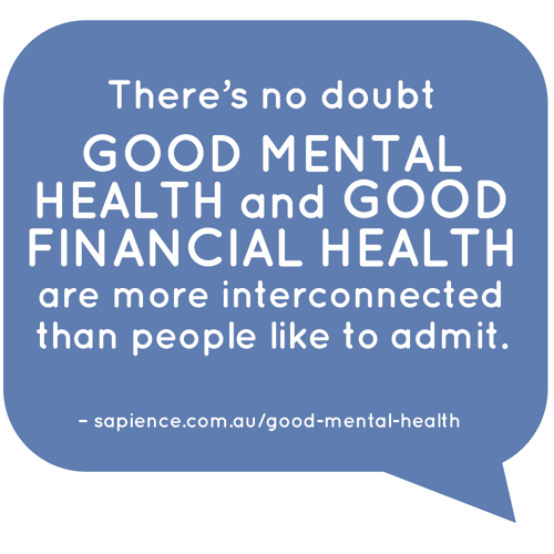 Good mental health and financial health interconnect