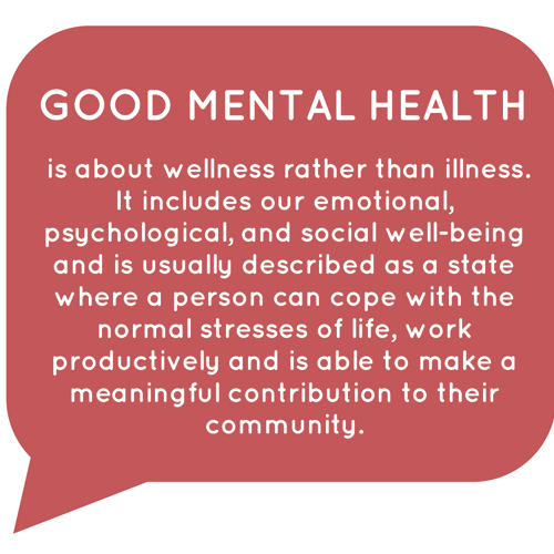 Good mental health affects good financial health
