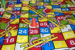 Did you know that the game Snakes and Ladders is known as Chutes and Ladders in the USA?
