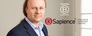 Sapience Financial and Investment Services is a Certified B Corp. and joined the international movement to use business as a deliberate force for good in the community