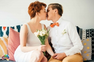 7 Financial Decisions for Same-sex Newlyweds Infographic