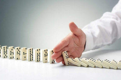 One thing all business owners understand so that once the dominos begin to fall, the outcome gets harder to manage